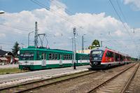 A MÁV-START 426 004 Desiro és a 862 pályaszámú MX HÉV motorvonat Tököl állomáson