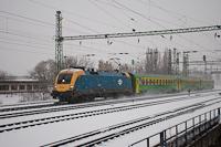 A MÁV-START 470 009 GYSEV Raabercity kocsis IC-vonatával Ferencvárosban