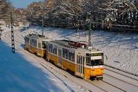 A BKV 4331 pályaszámú, Tatra T5C5K2 típusú villamosa a 61-es vonalon Hűvösvölgy és Heinrich István út között