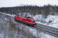 Az ÖBB/RailCargoAustria 1116 016-7 Bicske és Szár között