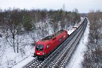 Az ÖBB/Rail Cargo Hungária 1116 002 Szár és Bicske között