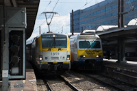 The SNCB 1819 and AM80 360 seen at Bruxelles Midi / Brussels Zuid