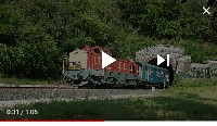 [VIDEO] The 408 224 as a retro train at the Balatonakarattya tunnel