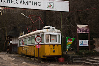 The tramcars of class 1000 of the Zugliget Niche Camping (numbers 1043 and 1061)