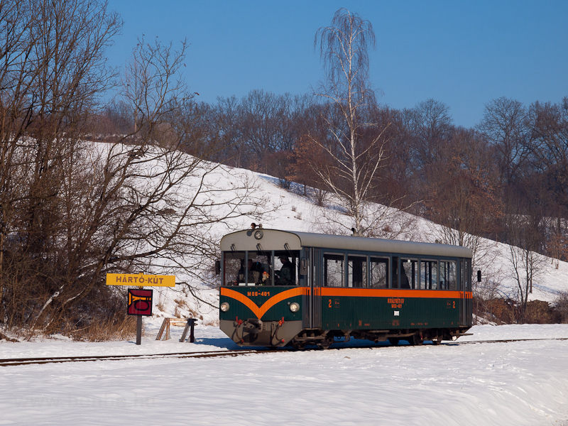 The Királyréti Erdei Vasút M06 401 seen at Hártókút photo