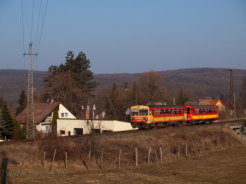 The Bzmot 343 near Magyarkút-Verőce stop photo