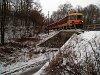 A Bzmot 341 Berkenye és Szokolya között a <q>viadukton</q>