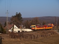 The Bzmot 343 near Magyarkút-Verőce stop