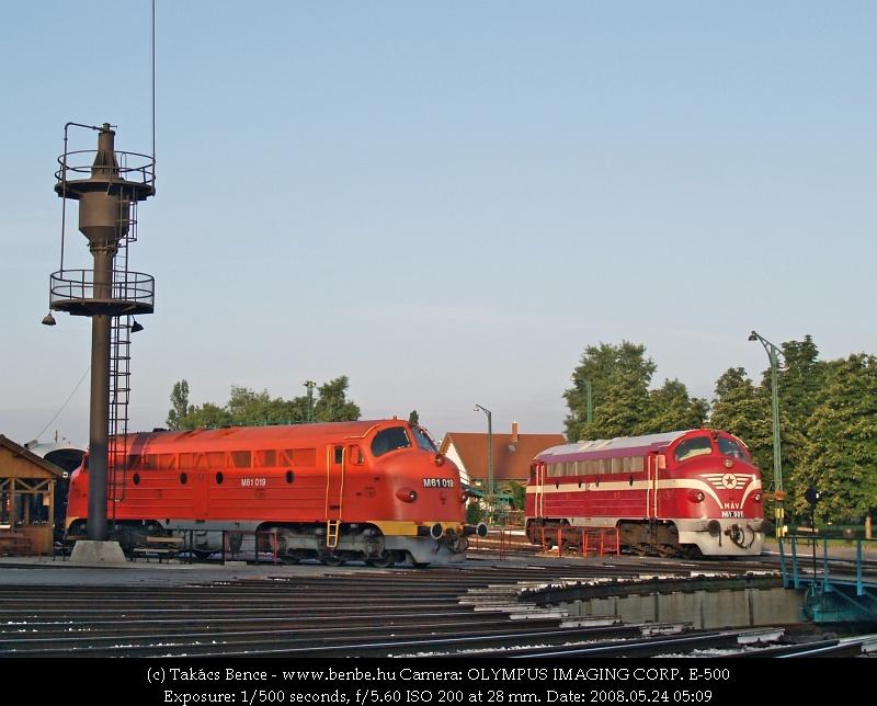 M61 001 és M61 019 a Vasúttörténeti parkban fotó