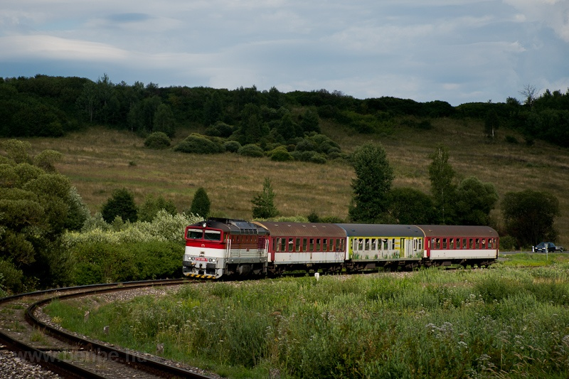 The ŽSSK 754 010-7 seen hauling REX Geravy between Polomka and Bacúch photo