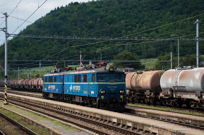 A PKP Cargo ET41 182-8 Margitfalva állomáson fotó