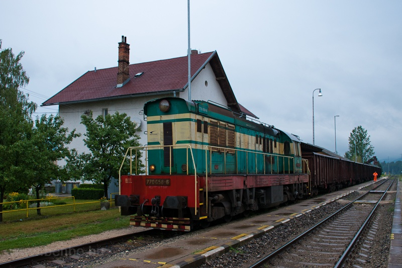 The ŽSSKC 770 058-6 seen at Rajec photo