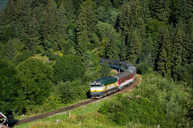 The ŽSSK 754  055-2 seen between Turček and Kremnické Bane photo