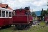 A Čiernohronská Lesná Železnica 764 407 Feketebalog állomáson