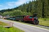 A Čiernohronská Lesná Železnica 764 407 Vydrovo Skanzen és Korytárske között