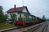 A ŽSSKC 770 058-6 tolat Rajec állomáson