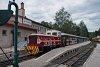 A Čiernohronská Lesná Železnica TU45 001 Feketebalog állomáson