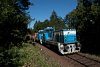 A ŽSSKC 736 012-6 Jánoshegy és Józsefgőzfürész között a 171-es vonali tolatós tehervonattal