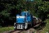 A ŽSSKC 736 013-4 Józsefgőzfürész és Jánoshegy között a visszafelé már jóval terheltebb tolatós tehervonattal