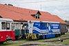 A Čiernohronská Lesná Železnica TU48 001 Feketebalog állomáson