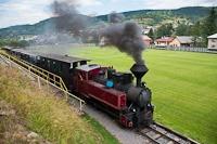 A Čiernohronská Lesná Železnica 764 407 Feketebalog és Dobrocs között