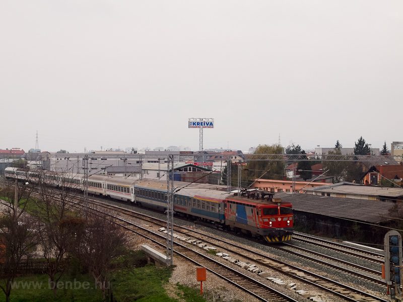 The HŽ 1 141 306 seen at Zagreb, between Čulinec and Sesvete photo