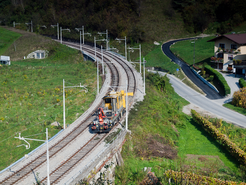 A Slovenian railway track m photo