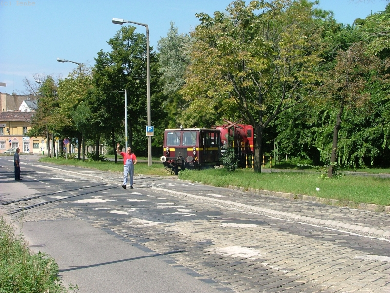 A BKV METRO tehervágánygépkocsija a Kincsem parknál fotó