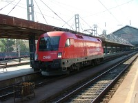 A special train of the ÖBB at Budapest-Nyugati