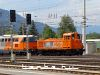 2067 017-0 pályaszámú,  a Swietelsky tulajdonában álló, kivállón felujított állapotu mozdony a 2143 005 társaságában Selzthal állomáson éppen áthaladóban