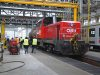 The 2068 009-6 in the biggest hall where passanger and freight cars both are repaired