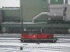 2068 027-8 Hall in Tirol pályaudvaron a váltóőrtoronyból nézve a  2009. december 4.-i hóesésben