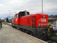 The 2068 010-4 at Wörgl Hauptbahnhof on the 150th anniversary of the station