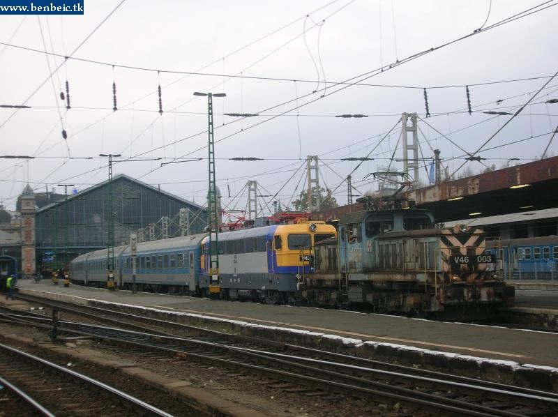 V43 2248 és V46 003 a Nyugati pályaudvaron fotó