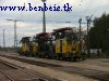 Catenary-maintenance vehicles at Szajol