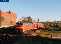 The 218 431-5 with the Bombardier train they test in Hungary and want to sell