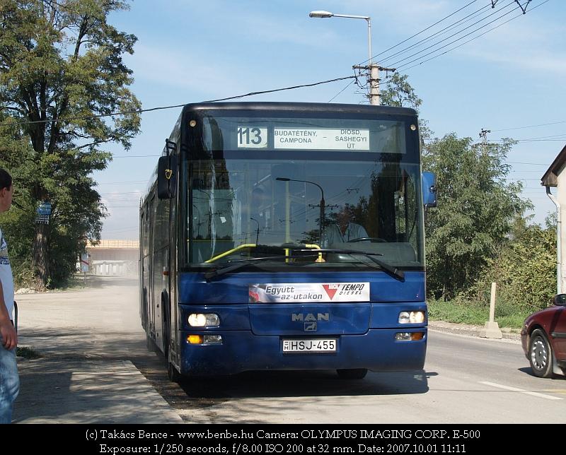 A VT-Transman MAN-gyártmányú busza a 113-as járaton fotó