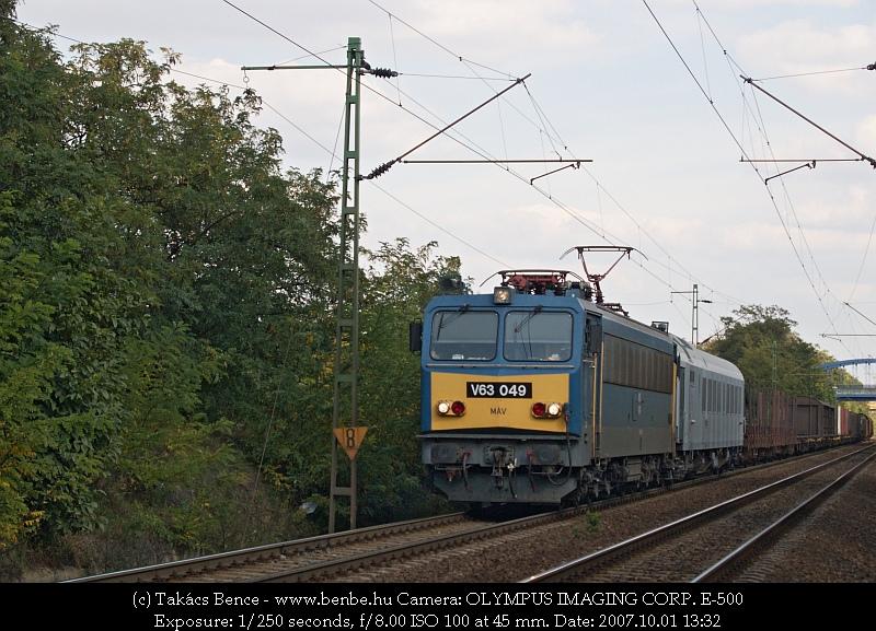 V63 049 Kelenföld és Budaörs között fotó