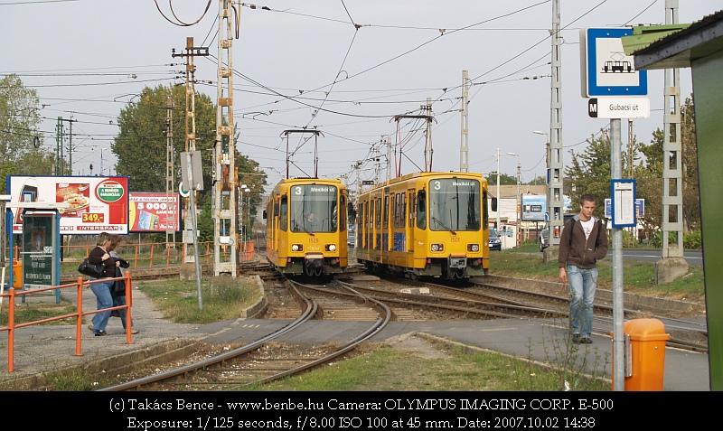 TW6000-res kocsik találkája a 3-as Gubacsi úti végállomásánál fotó