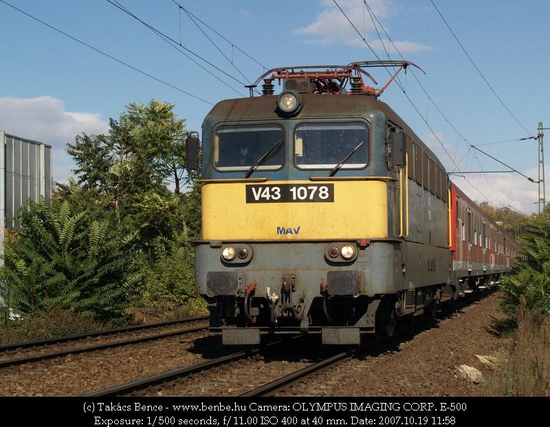 V43 1078 Kelenföld elõtt fotó