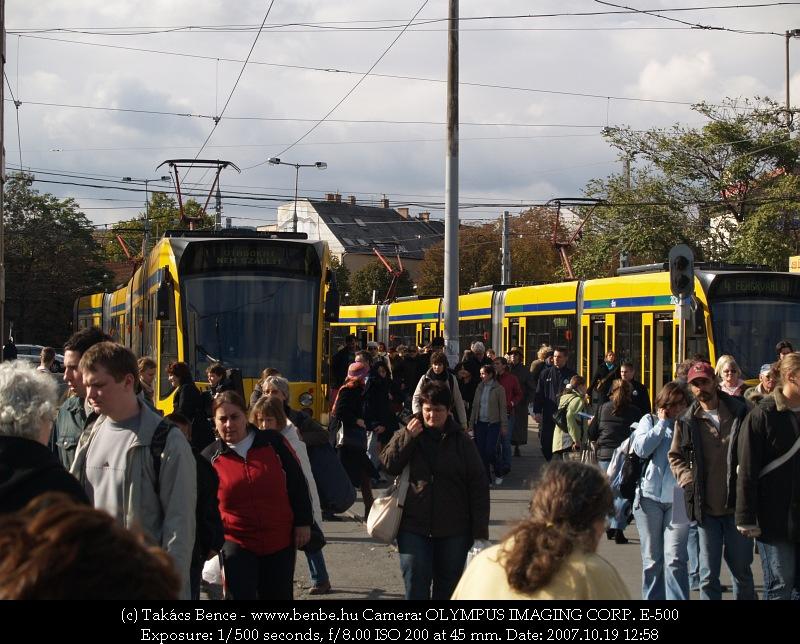 Hol van a bégyeshatos vonalán ilyen középperon, fák, meg ekkora forgalom? fotó