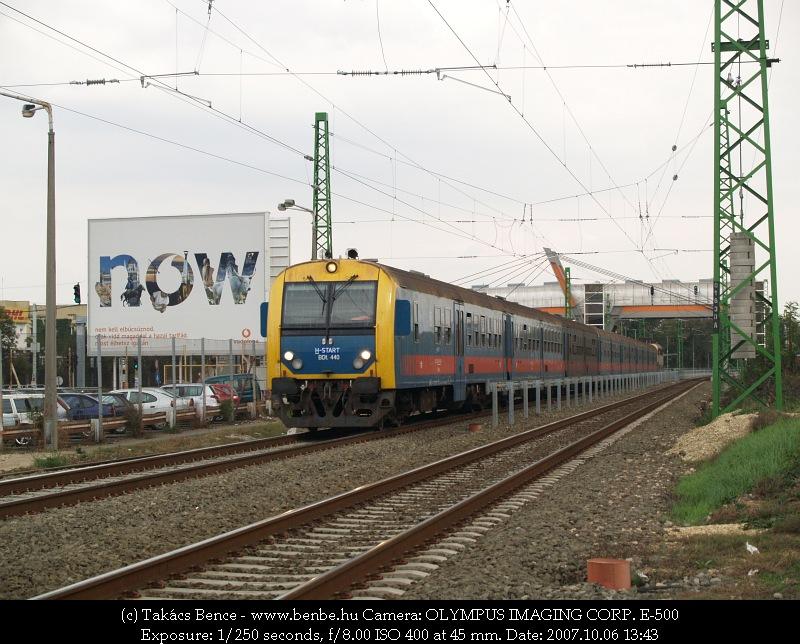 Zónázó vonat Ferihegy megállóhelyen fotó