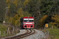The ŽSSK 812 011-9 seen between Zbojská and Tisovec-Bánovo