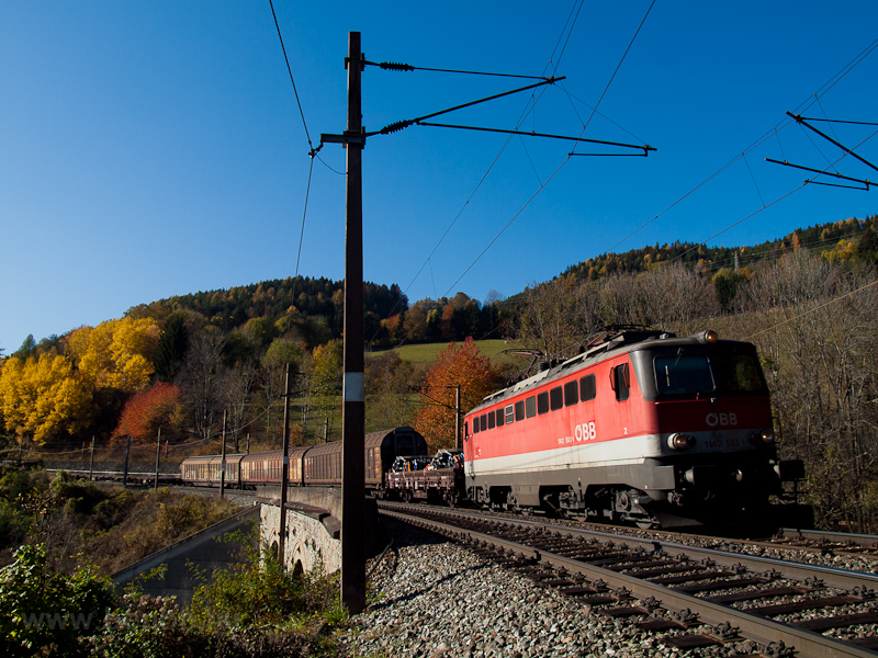 The ÖBB 1142 593 seen betwe picture