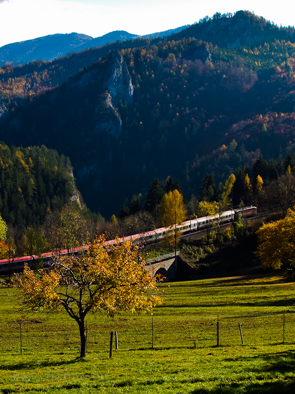An InterCity train is runni photo