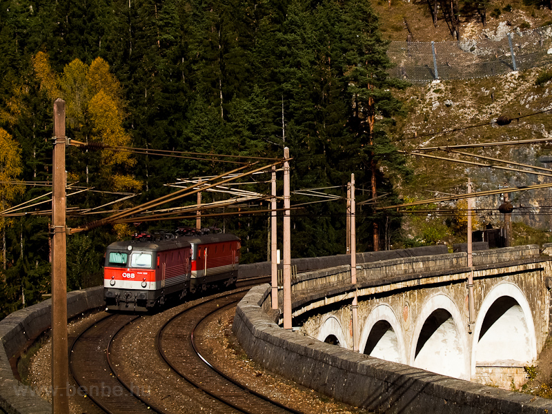 The ÖBB 1144 029 seen betwe photo