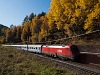 The ÖBB 1116 100-9 seen between Breitenstein and Klamm-Schottwien hauling EC Polonia