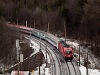 The ÖBB 1116 087 seen between Wolfsbergkogel and Breitenstein