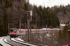 The ÖBB 1144 020 seen between Wolfsbergkogel and Semmering