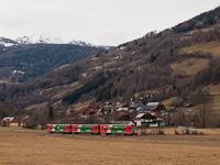 Az STLB Murtalbahn VS43-VT31-VT34 pályaszámú szerelvénye Lutzmannsdorf és Kreischberg Talstation között